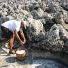 Szerves kézi betakarítású mediterrán görög tengeri só