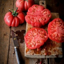 """Monte Rosa"" Ribbed Pink Tomato Seeds"