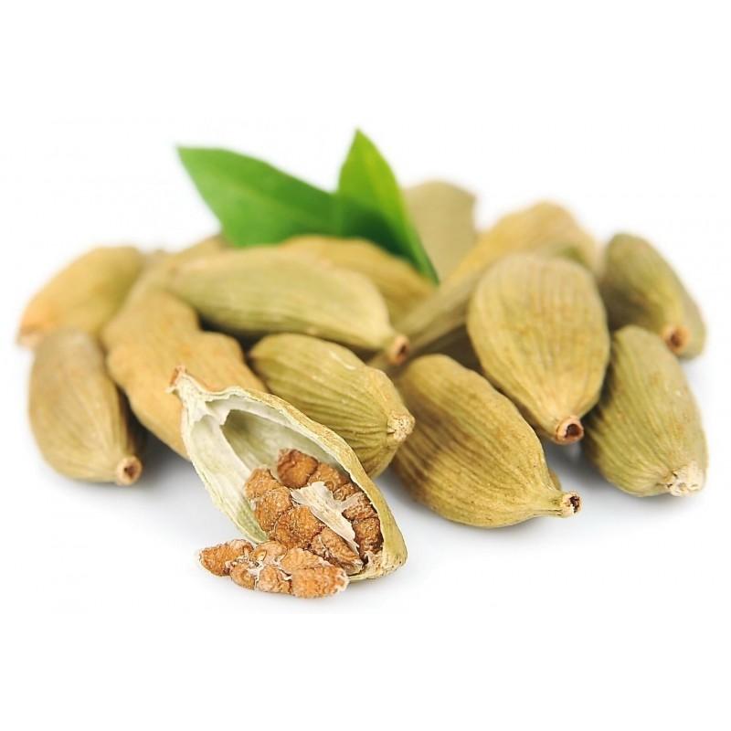 Green cardamom spice - whole fruits