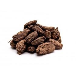 Especias de cardamomo negro - enteras