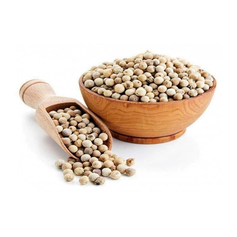 Granos de pimienta blanca - especia