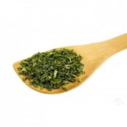 Especiaria de alho cebolinha chinesa - secas e picadas
