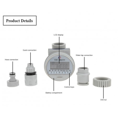 Watering Timer Solar Power Automatic Irrigation Watering Timer Programmable LCD Display Hose Timers Irrigation System 39.95 - 2
