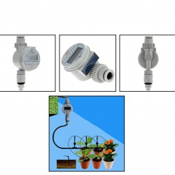 Watering Timer Solar Power Automatic Irrigation Watering Timer Programmable LCD Display Hose Timers Irrigation System 39.95 - 3
