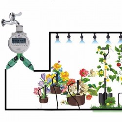 Watering Timer Solar Power Automatic Irrigation Watering Timer Programmable LCD Display Hose Timers Irrigation System 39.95 - 9