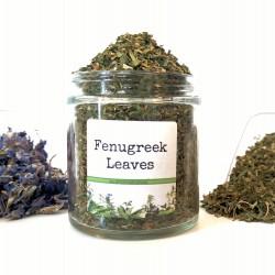 Folhas de feno-grego secas...