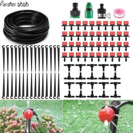 Sistema de Irrigação por Gotejamento, Rega Automática com Gotejadores Ajustáveis