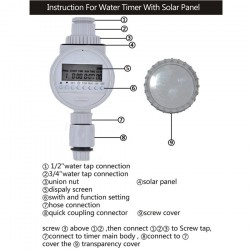 Watering Timer Solar Power Automatic Irrigation Watering Timer Programmable LCD Display Hose Timers Irrigation System 39.95 - 16