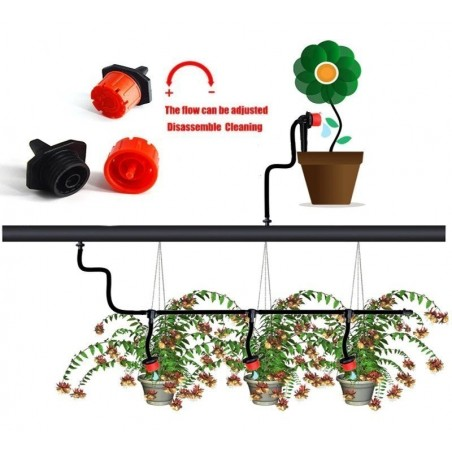 Drip Irrigation System, Automatic Watering with Adjustable Drippers 19.5 - 6