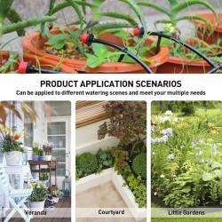 Sistema de Irrigação por Gotejamento, Rega Automática com Gotejadores Ajustáveis 19.5 - 7