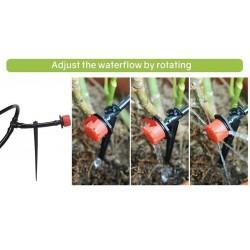 Sistema de Irrigação por Gotejamento, Rega Automática com Gotejadores Ajustáveis 19.5 - 8