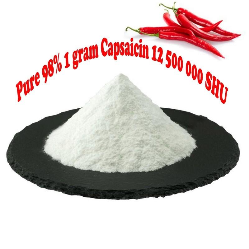 Pur 98% Capsaicine 12.500.000 SHU - 1 gramme 40 - 1