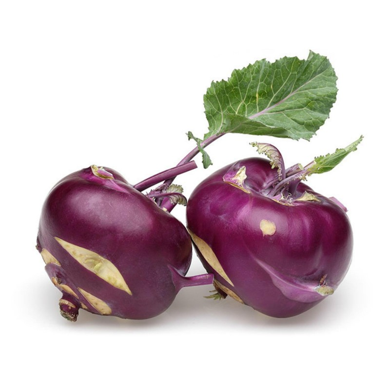 Kohlrabi Seeds Purple Vienna  - 4