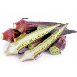 Okra Burgundy Seeds  - 3