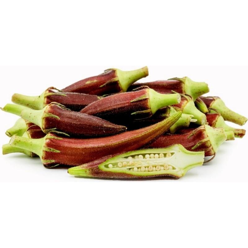 Okra Burgundy Seeds  - 5